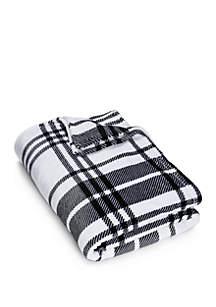 Large Plaid Plush Blanket