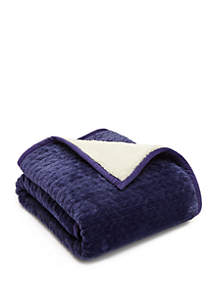 Solid Quilted Sherpa Throw