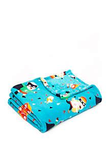 Snowy Playtime Microplush Blanket