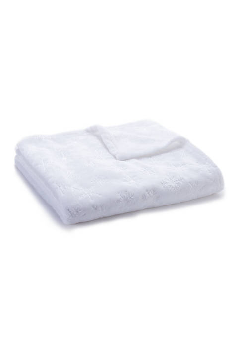 Modern. Southern. Home.™ Snowflake Embossed Plush Throw Blanket