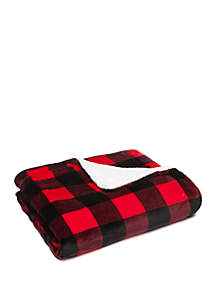 Buffalo Plaid Quilted Sherpa Throw