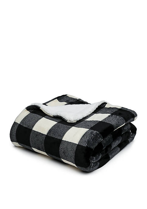 Modern. Southern. Home.™ Buffalo Plaid Sherpa Throw