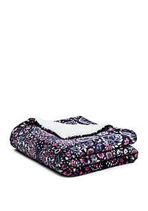 Paisley Scarf Sherpa Throw