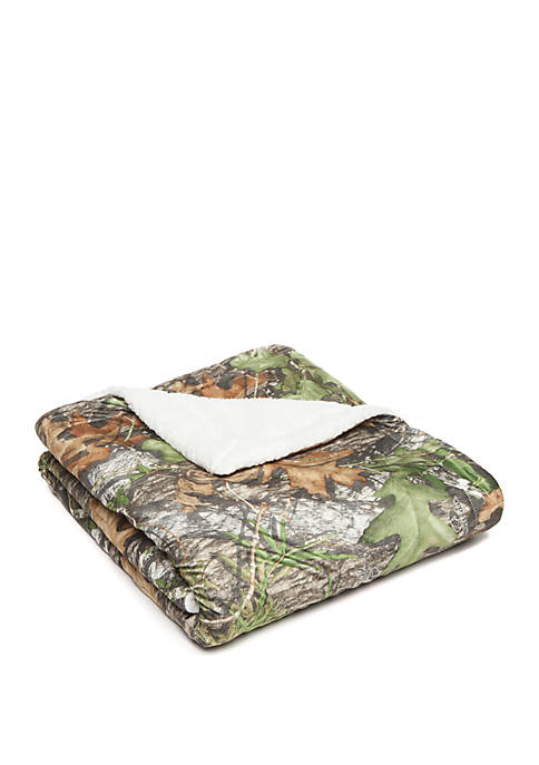 Modern. Southern. Home.™ Mossy Oak Quilted Sherpa Throw