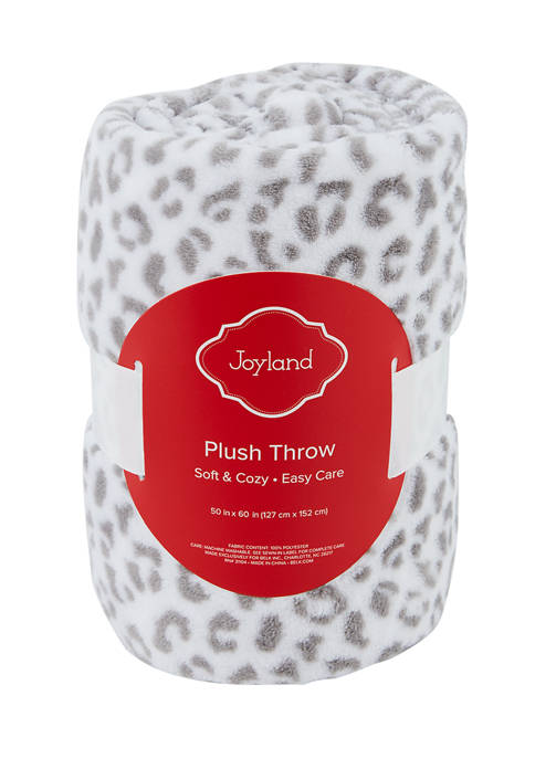 Joyland Leopard Print Plush Throw