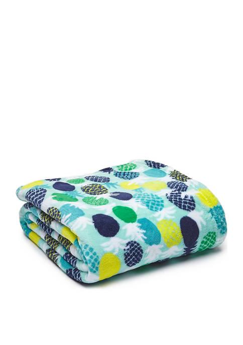 Pineapple Micro Plush Throw Blanket
