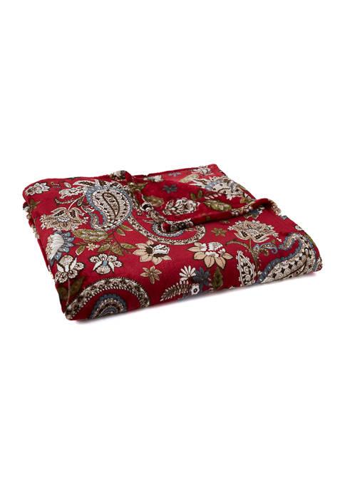 Paisley Printed Plus Blanket