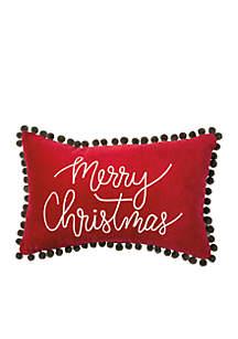 Merry Christmas Velvet Pillow