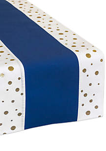 Crown & Ivy™ Gold Polka Dot Table Runner