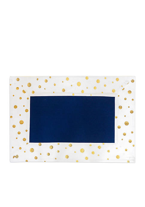 Crown & Ivy™ Gold Polka Dots Placemat