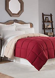 Reversible Solid Down Alternative Comforter