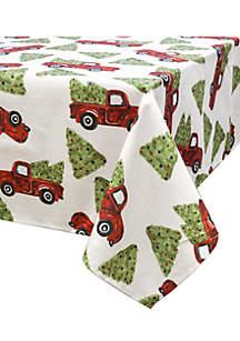 Festive Trucks Tablecloth