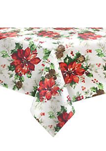 Watercolor Poinsettia Tablecloth