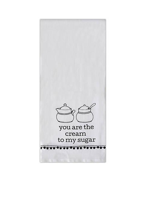 Cream and Sugar Tea Towel