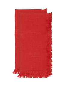 Modern. Southern. Home.™ Umberto Fringe Red Napkin Set