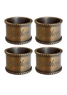 Set of 4 Gather Napkin Rings