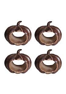 Set of 4 Pumpkin Napkin Rings