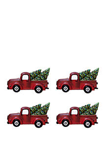 Festive Trucks Napkin Ring Set