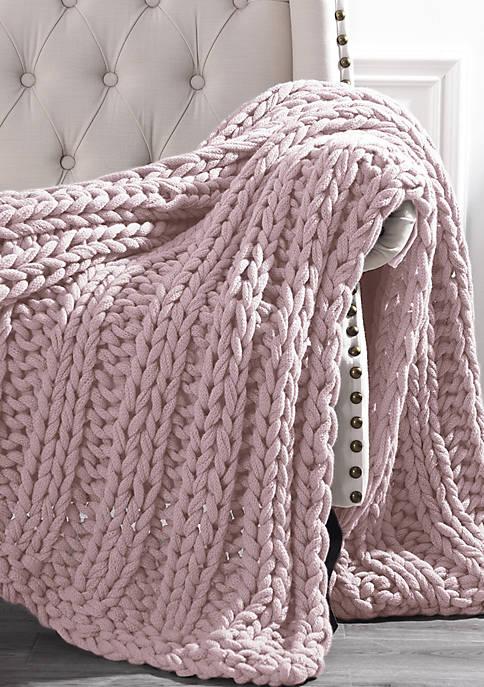 Modern Threads Chunky Knit Throw