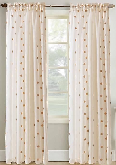 Amrapur Overseas 2 Pack Metallic Dot Curtains