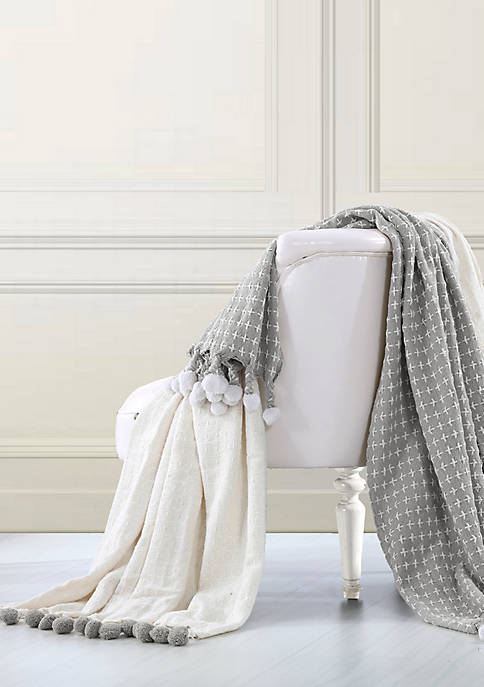 2 Pack Cross Stitch Throws