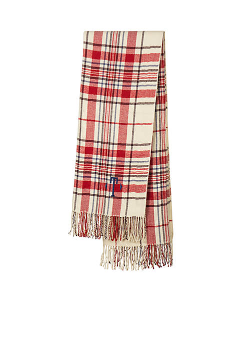 Cathy's Concepts Personalized Red Plaid Throw