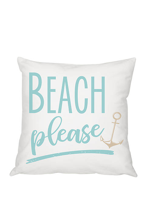 Cathy's Concepts Beach Please 16 Inch Throw Pillow
