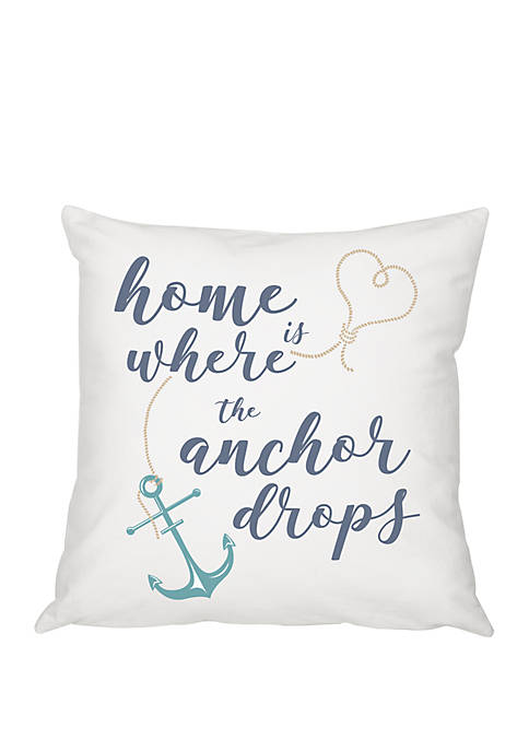 Cathy's Concepts Where the Anchor Drops Pillow