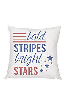 Cathy's Concepts Stars and Stripes 16 Inch Throw Pillow
