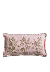 Flora Embroidery Decorative Filled Pillow