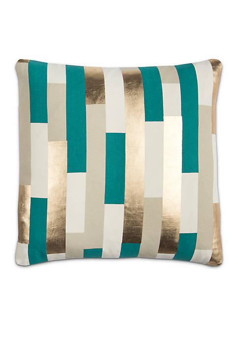 Stripe Decorative Filled Pillow