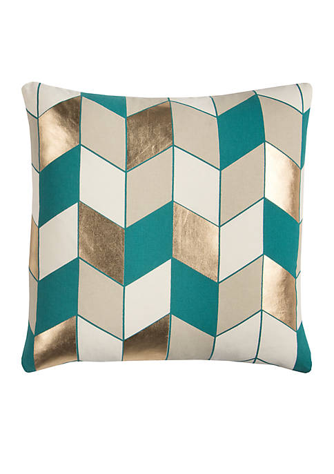 Rizzy Home Geometric Decorative Filled Pillow
