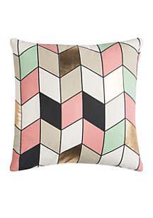 Geometric Decorative Filled Pillow