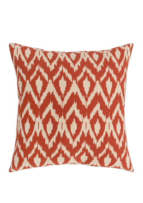 Rizzy Home Ikat Polyester Filled Pillow