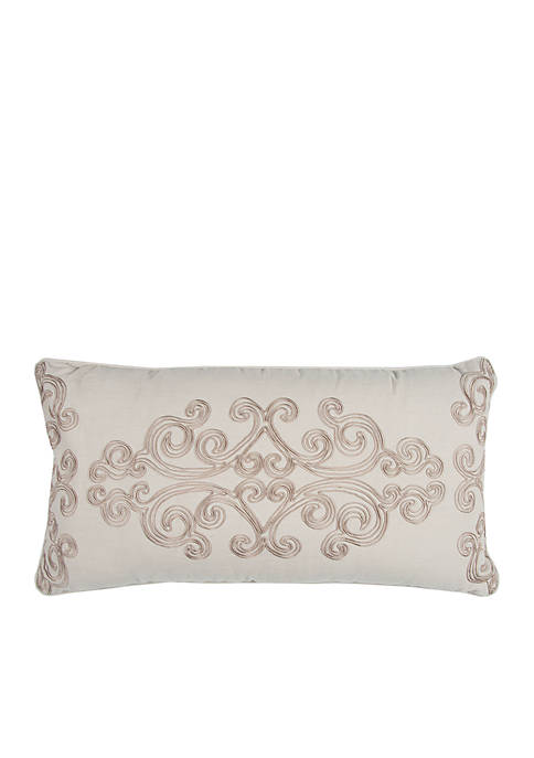 Rizzy Home Floral Light Beige Decorative Filled Pillow