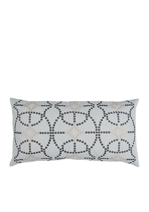 Rizzy Home Geometric Blue Decorative Filled Pillow