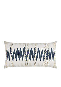 Abstract Blue Decorative Filled Pillow