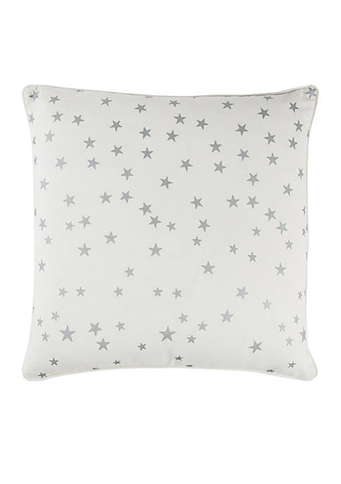 Ivory Star Cotton Decorative Pillow