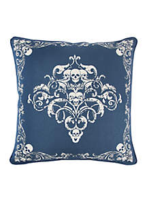 Blue Bandanna Print Cotton Decorative Pillow