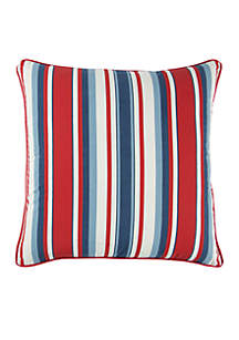 Rizzy Home Red Stripe Cotton Decorative Pillow