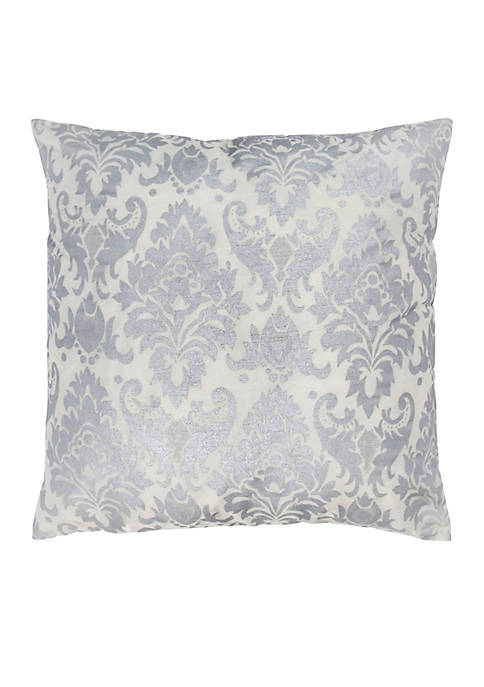 Rizzy Home Damask Feather Pillow