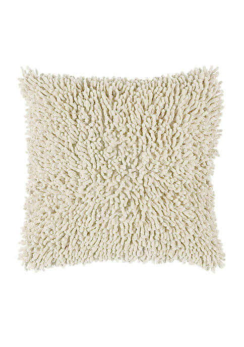Rizzy Home Solid Shag Pillow