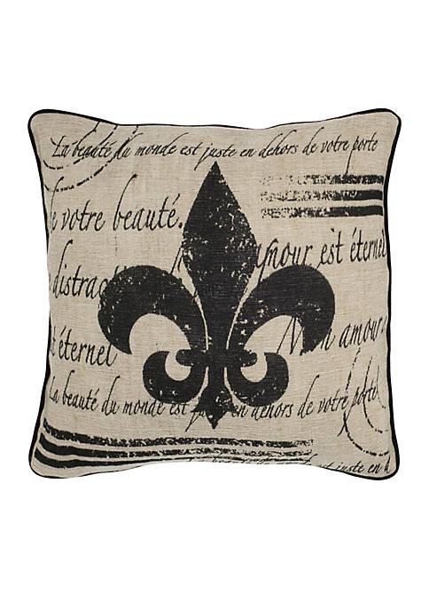 Rizzy Home Fleur De Lis Decorative Pillow