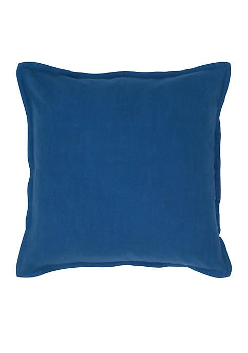 Rizzy Home Indigo Blue Flanged Decorative Pillow