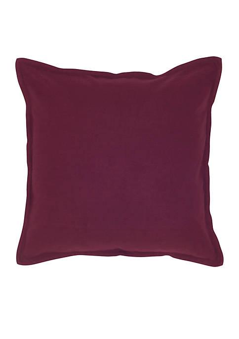Purple Flanged Decorative Pillow