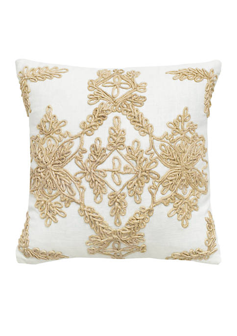 Rizzy Home Medallion Cord Decorative Pillow