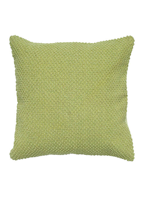 Rizzy Home Green Textured Decorative Pillow