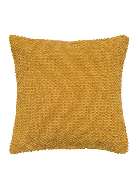 Rizzy Home Gold Solid Textured Decorative Pillow