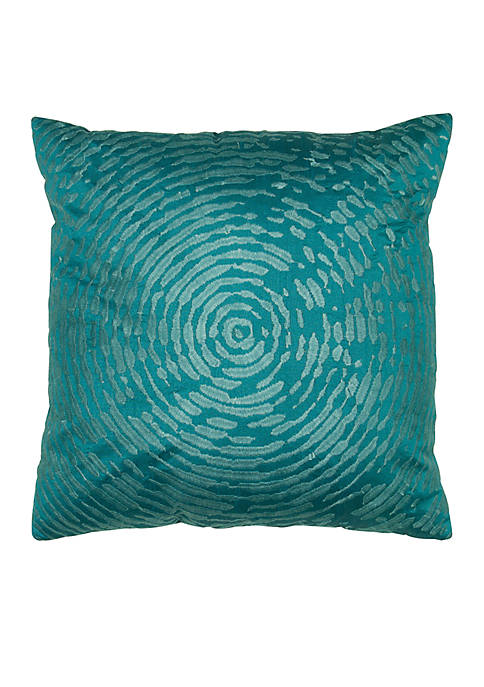 Rizzy Home Peacock Blue Abstract Pillow