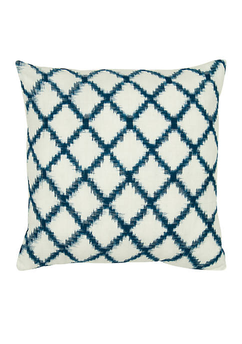 Rizzy Home Ivory Diamond Pillow